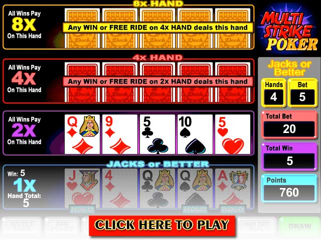 Click to Play Multi-Strike Poker